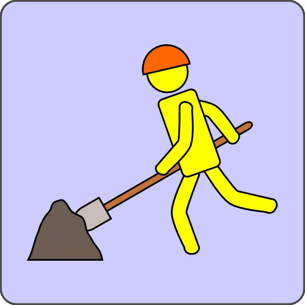 free vector Road Work clip art