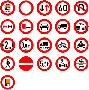 free vector Roadsigns clip art