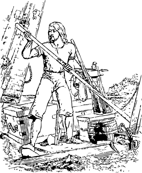 Robinson Crusoe Clip Art Free Vector 4Vector