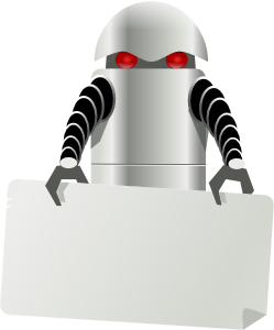 free vector Robot Carrying Things clip art