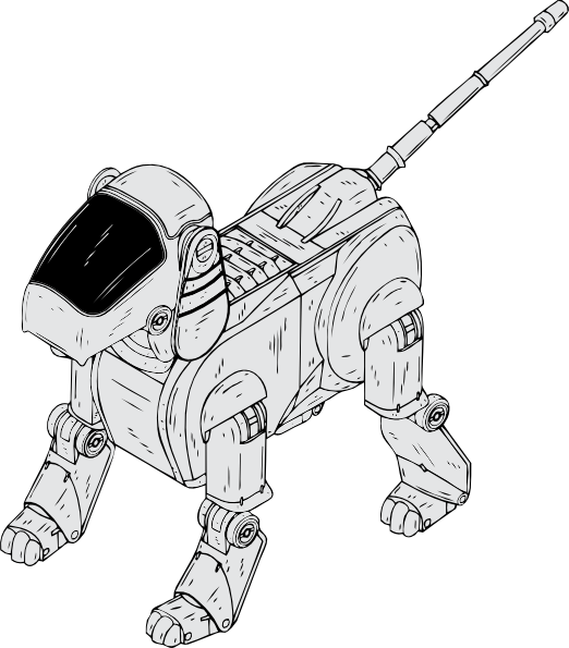 free vector Robot Dog clip art