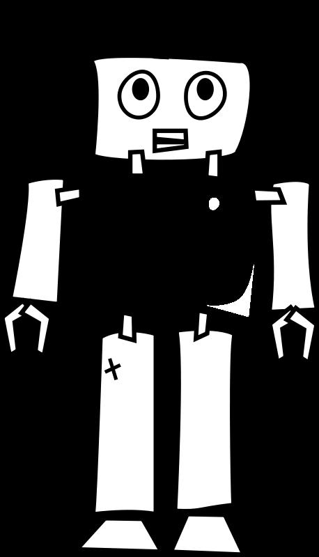 robot line art  102383  free svg download    4vector