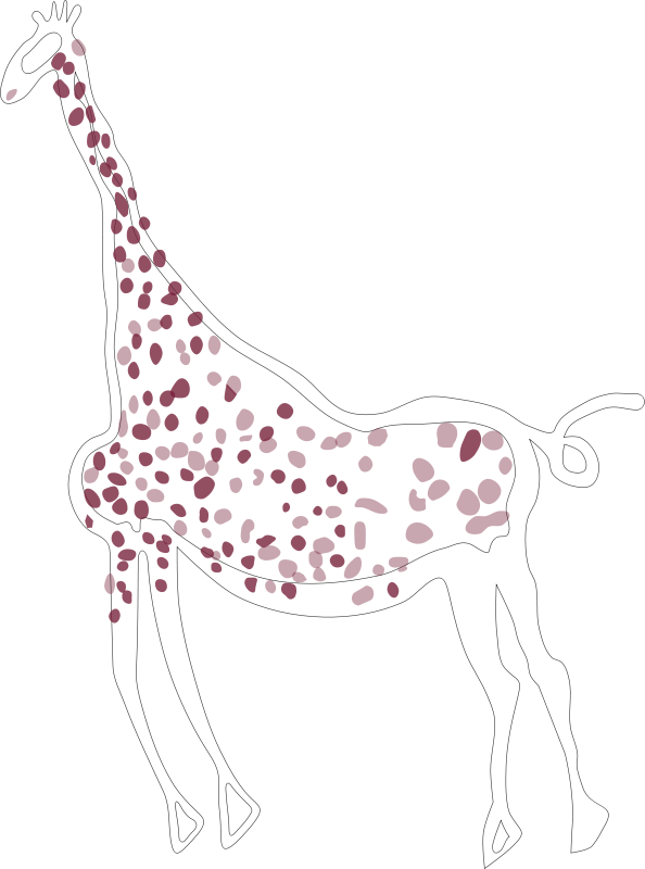 free vector Rock Art Acacus Giraffe