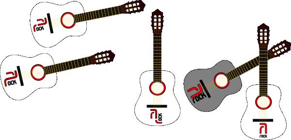 free vector Rock Guitars clip art