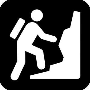free vector Rock Mountain Or Hill Climibing clip art