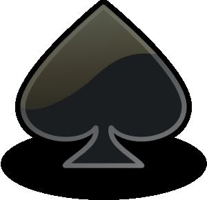 free vector Rocket Emblem Spade clip art