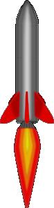 free vector Rocket Flying Up clip art