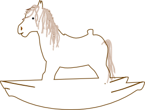 free vector Rocking Horse Outline clip art