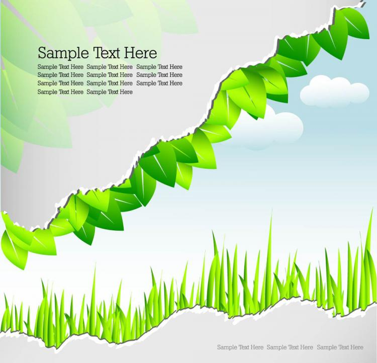 free vector Roll angle and leaves 04 vector