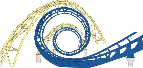 free vector Roller Coaster Tracks clip art