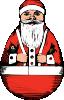 free vector Rolly Polly Santa clip art
