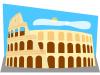 free vector Roman Colosseum clip art