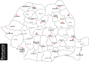 free vector Romanian Map With Counties clip art