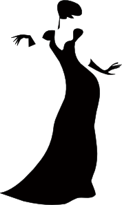 free vector Romanov Dark Lady clip art