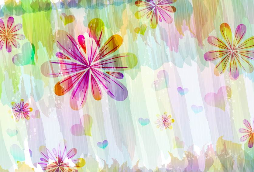 free vector Romantic floral pattern background vector design 1