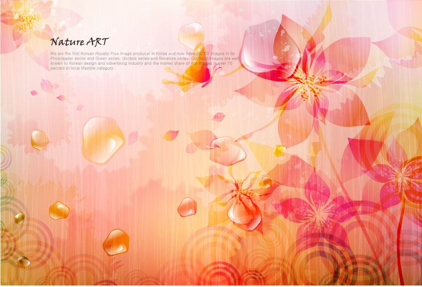 free vector Romantic floral pattern background vector design 4