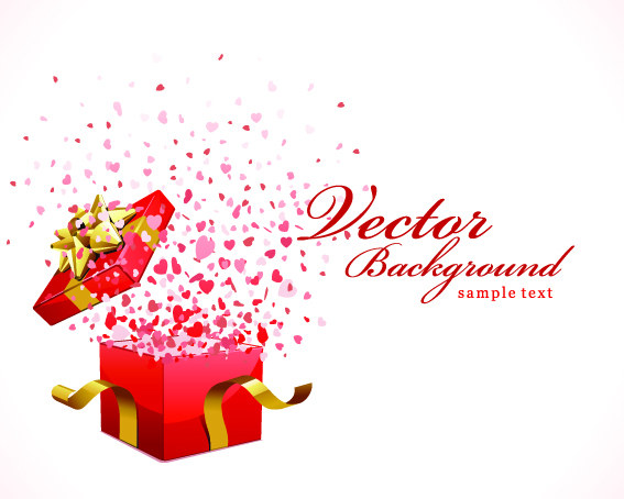Romantic gift opening moments vector free vector 4vector free vector romantic gift opening moments vector negle Image collections