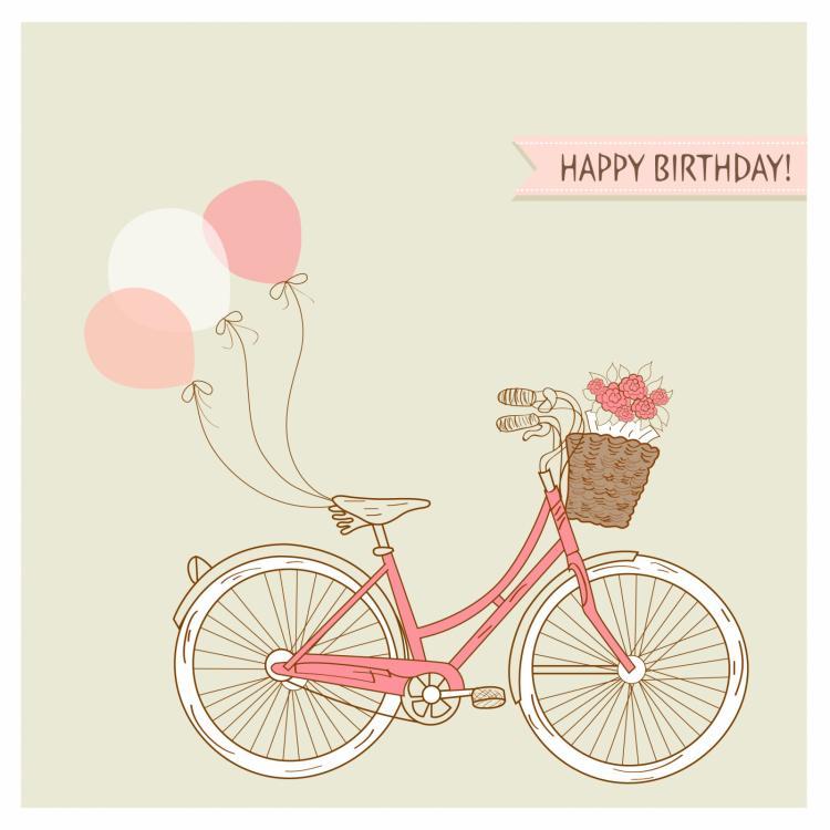 free vector Romantic happy birthday background