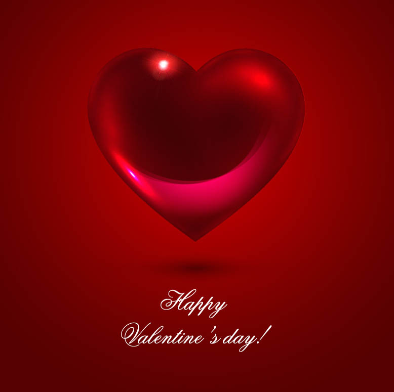 free vector Romantic heartshaped background 02 vector