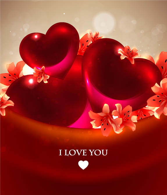 free vector Romantic heartshaped background 04 vector