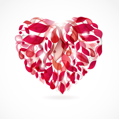 free vector Romantic heartshaped vector graphic