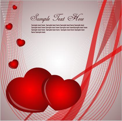 free vector Romantic love card vector