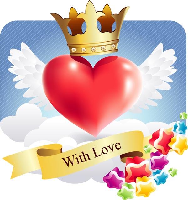 free vector Romantic love pattern vector
