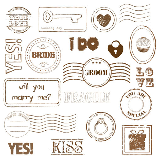 free vector Romantic seal 02 vector