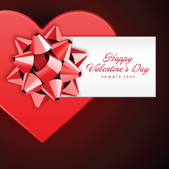Romantic Valentine Day Gift Card Vector Free Vector 4vector