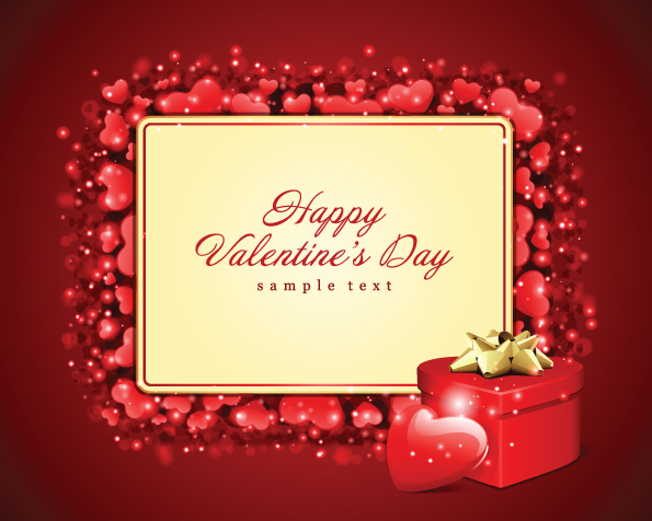 Romantic valentine day gift card vector Free Vector 4Vector – Valentines Day Gift Card