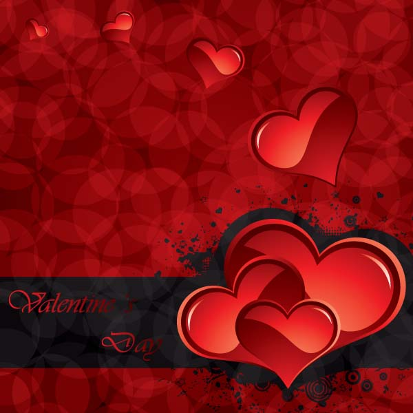 Romantic valentine day greeting card vector Free Vector 4Vector – Romantic Valentine Card Images