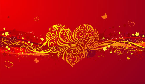 free vector Romantic valentine day heartshaped pattern vector background