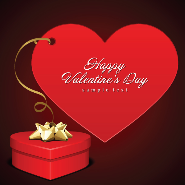 romantic valentine day love card vector free vector / 4vector, Ideas