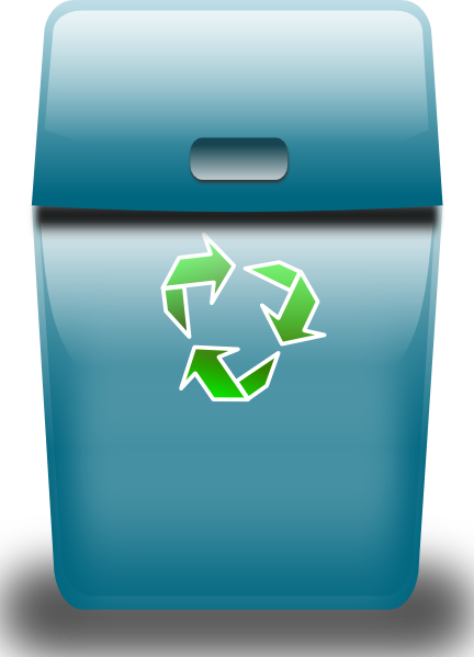 free vector Ronoaldo Blue Trash Can clip art