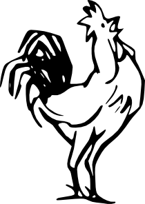 free vector Rooster Calling clip art