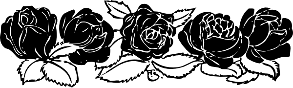 free vector Rose Border clip art