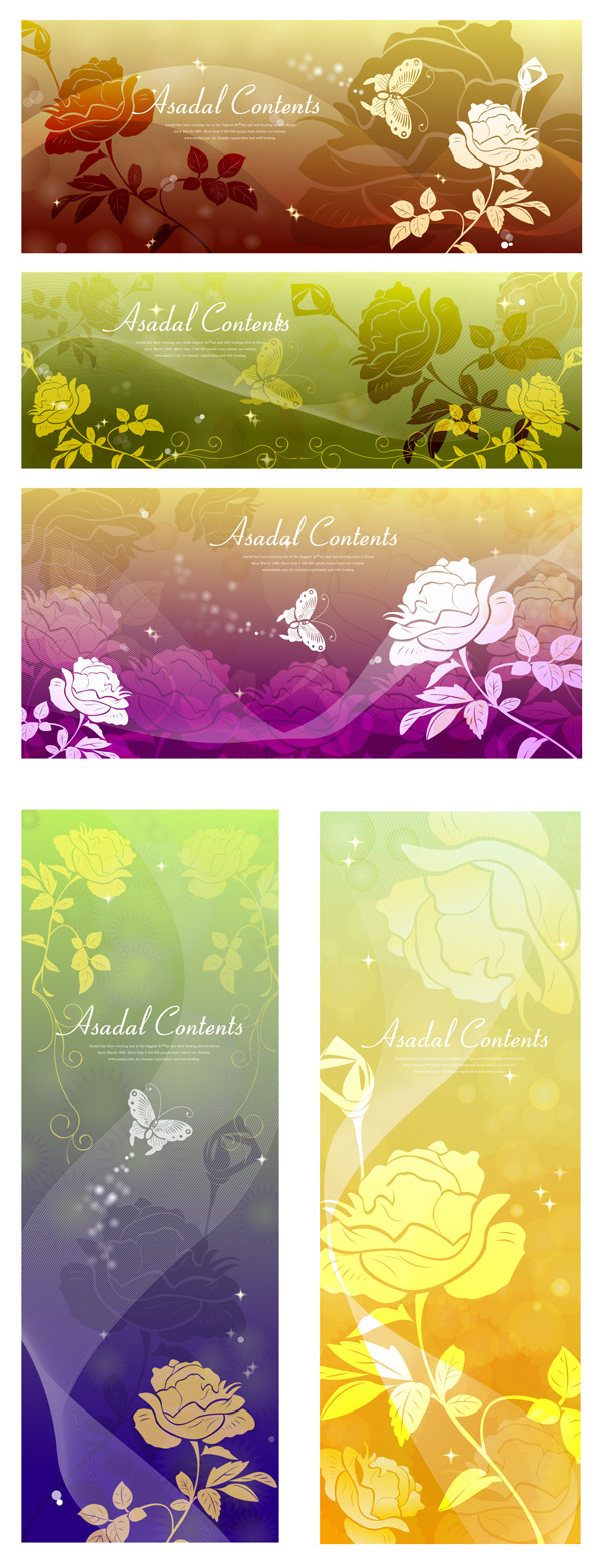 free vector Rose dream vector background butterfly silhouette