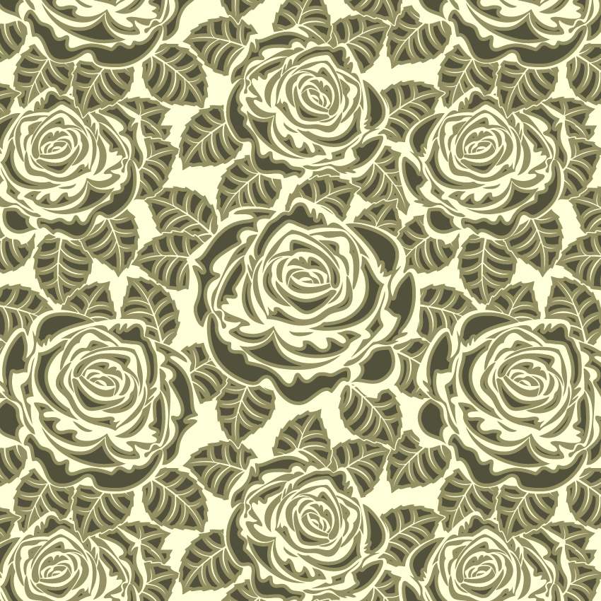 free vector Rose pattern background 01 vector
