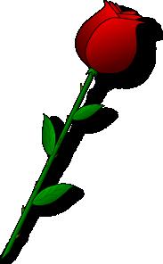 free vector Rose Red Flower clip art