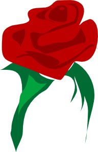 free vector Rose Red Flower clip art