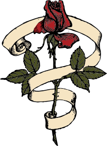 free vector Rose Scroll clip art