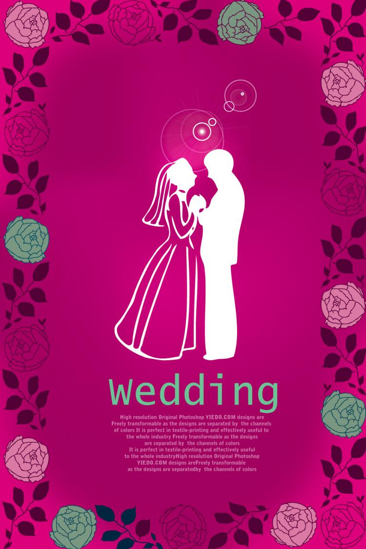free vector Rose-wedding