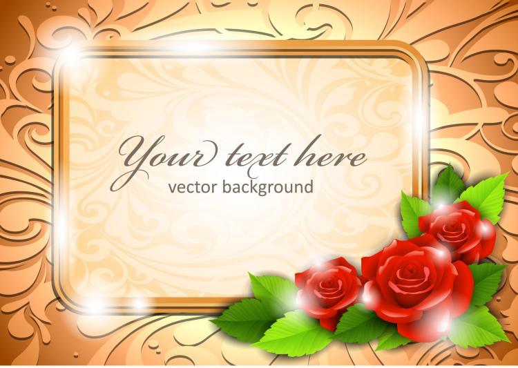free vector Roses border 01 vector