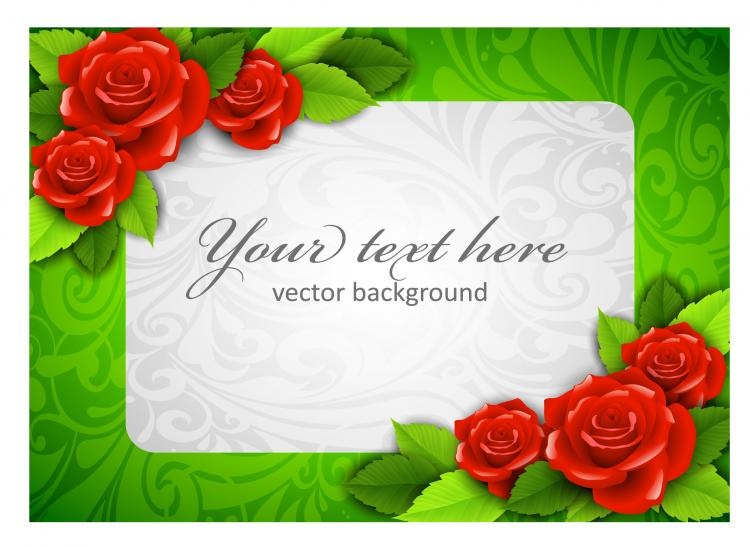 free vector Roses border 03 vector