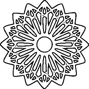 free vector Rosette Outline clip art