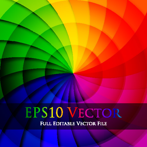 free vector Rotate colorful background vector 3