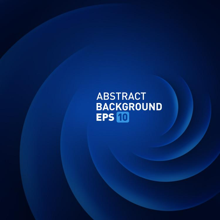 free vector Rotate the blue background vector