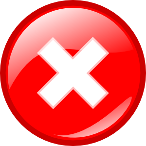 free vector Round Error Warning Button clip art