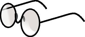 free vector Round Eye Glasses clip art