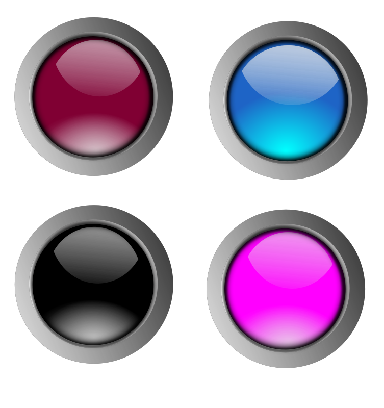 free vector Round glossy buttons
